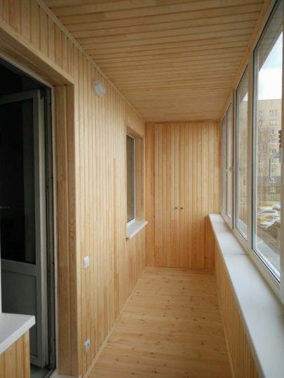 цтепление и обшивка балкона