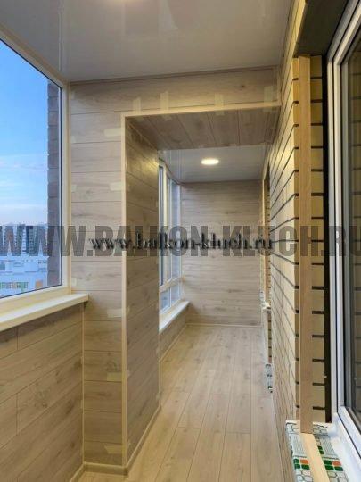 обшивка балкона ламинатом